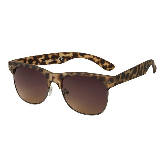 eb76ee240de118 Clubmaster zonnebril mat turtle print