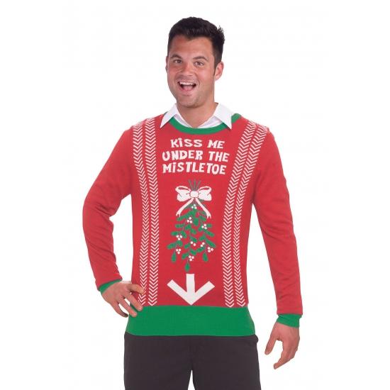 Grote Maten Foute Kersttrui.Foute Kersttrui Kiss Me Kerst Truien Grote Maten Shop