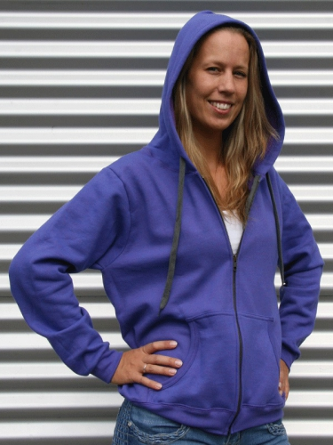 666f96bf6ed Paars Gildan sweatvest voor dames met rits | Capuchon sweaters ...