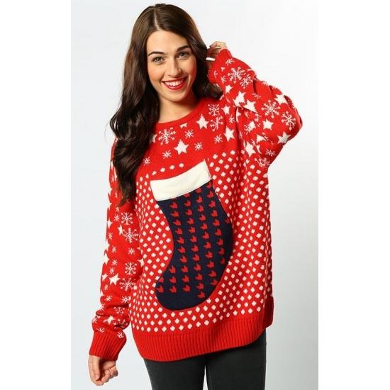 Kersttrui Dames Zwart.Rode Dames Kersttrui Kerstsok Kerst Truien Dames Grote Maten Shop